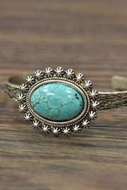 Wild Lilies Jewelry  Oval Turquoise Cuff - Front cropped