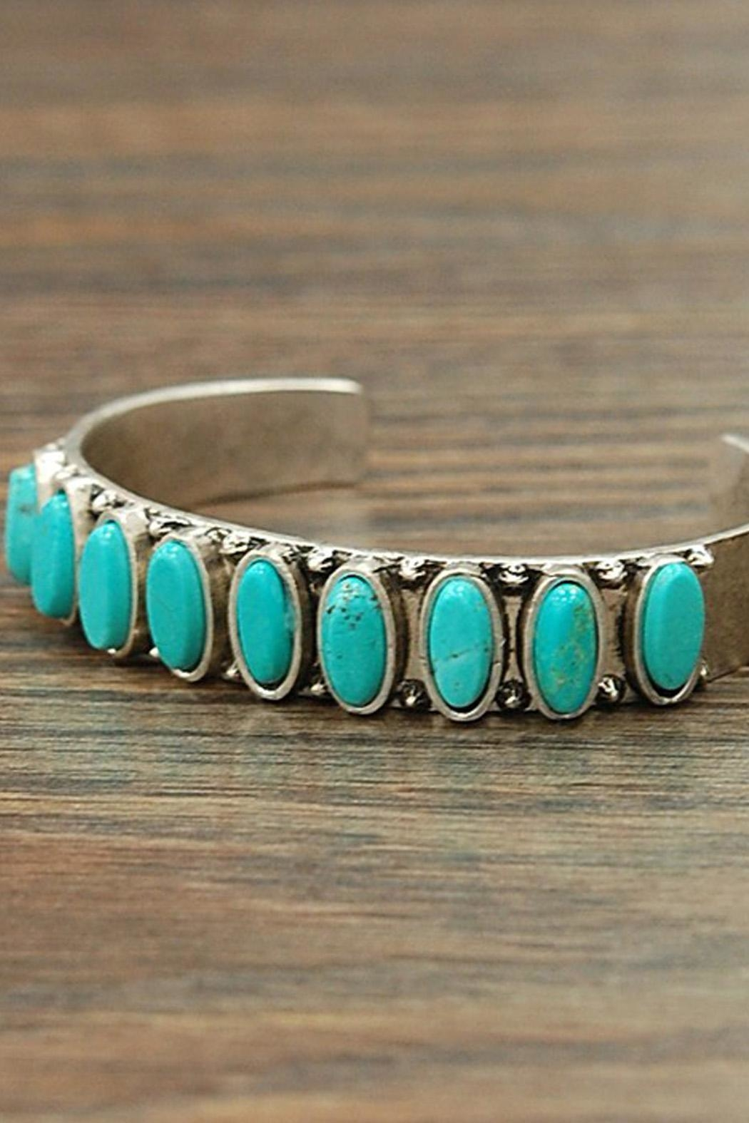 Wild Lilies Jewelry  Oval Turquoise Cuff - Front Full Image