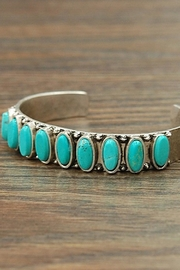 Wild Lilies Jewelry  Oval Turquoise Cuff - Front full body