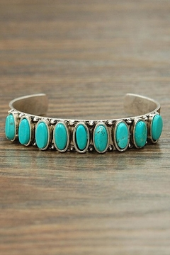 Shoptiques Product: Oval Turquoise Cuff