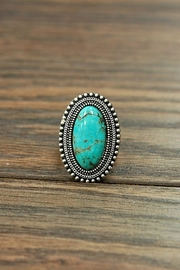 Wild Lilies Jewelry  Oval Turquoise Ring - Front cropped
