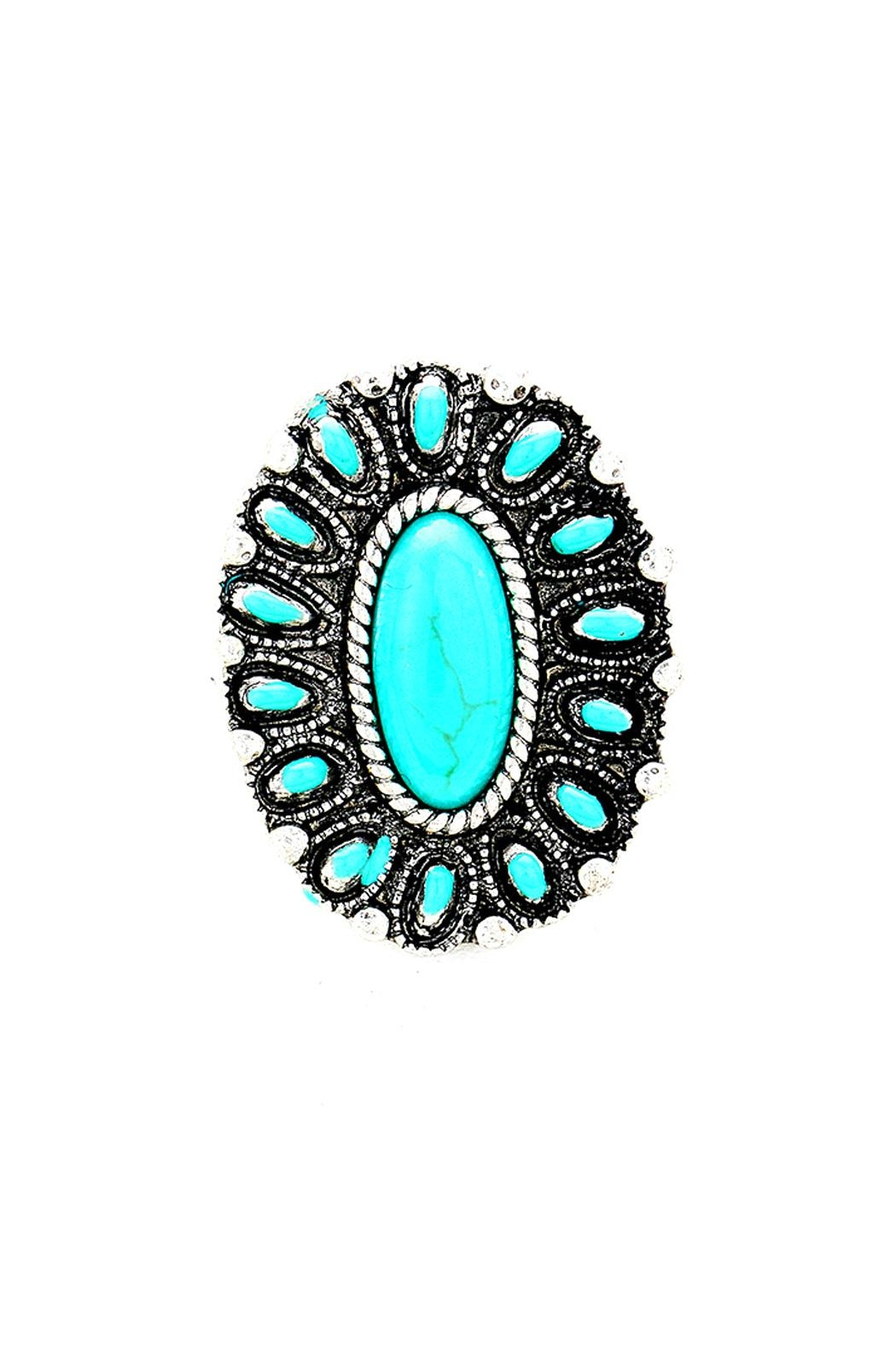 Wild Lilies Jewelry  Oval Turquoise Ring - Main Image