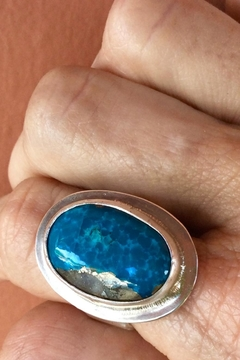LJ Jewelry Designs Oval Turquoise Ring - Alternate List Image