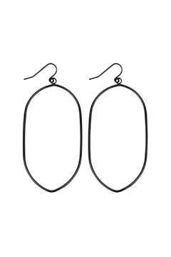 Riah Fashion Oval-Wire Drop Earrings - Product List Image