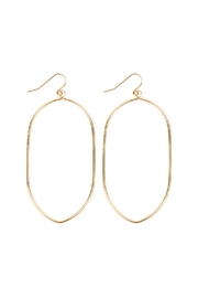 Riah Fashion Oval-Wire Drop Earrings - Product Mini Image
