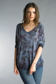 Tempo Paris Over-Dyed Floral Sweater - Product Mini Image
