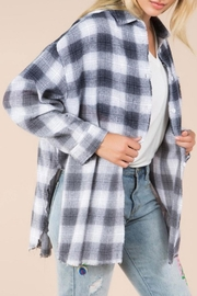 POL Over-Sized Slit Flannel - Product Mini Image