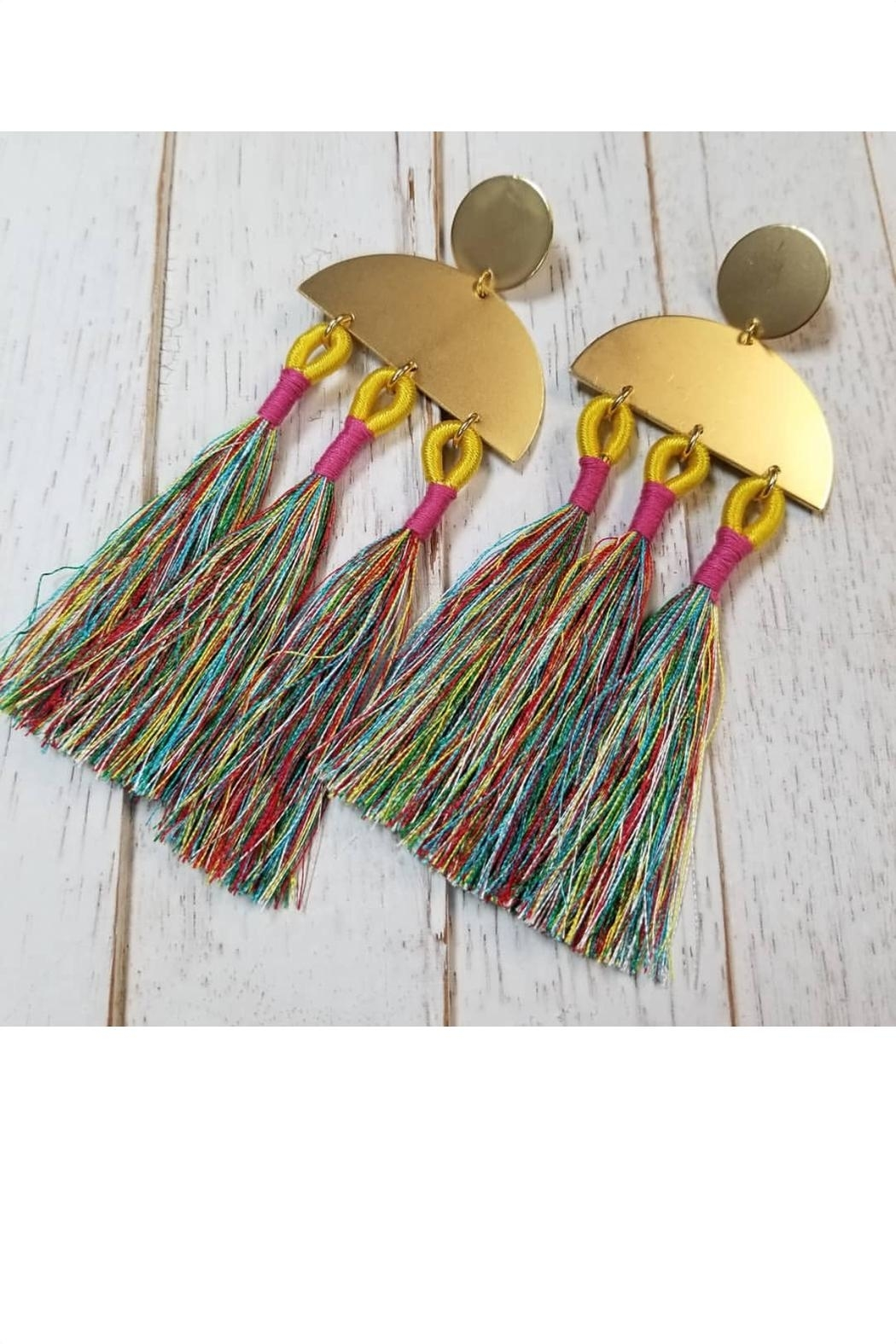 Fabulina Designs Over The Rainbow Statement Earrings - Main Image