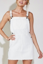 blue blush Overall Denim Dress - Front cropped