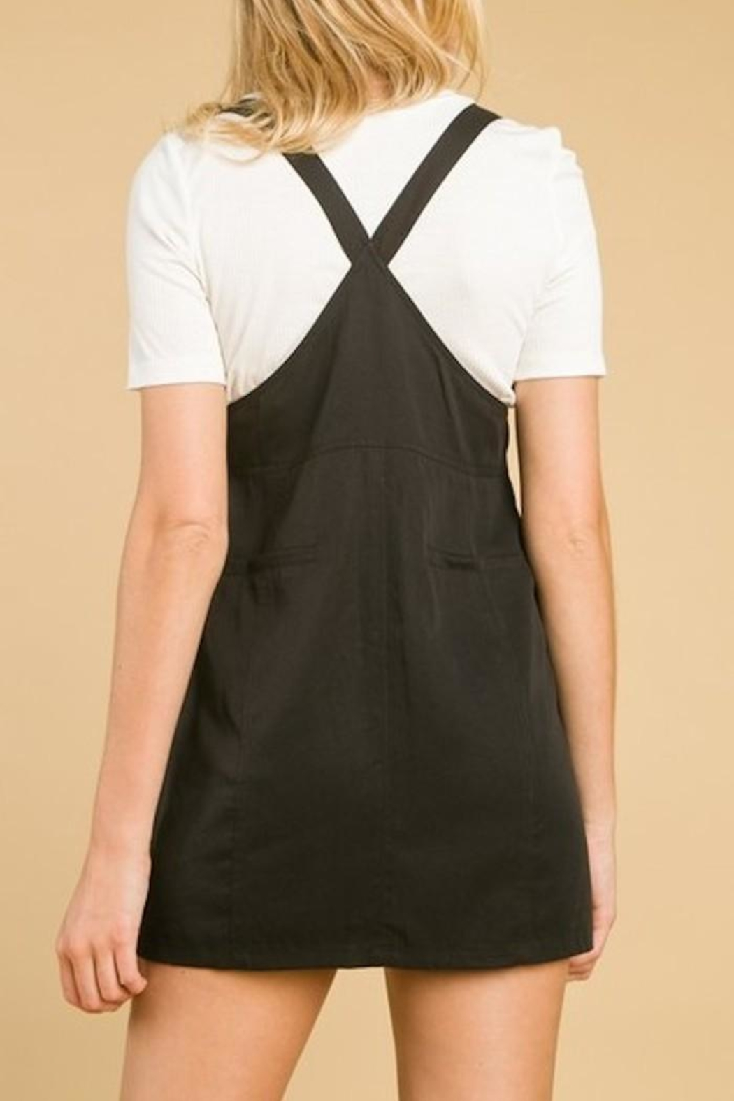 Honey Punch Overall Dress - Side Cropped Image