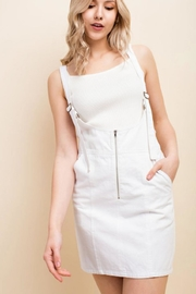 Honey Punch Overall Mini Dress - Front cropped