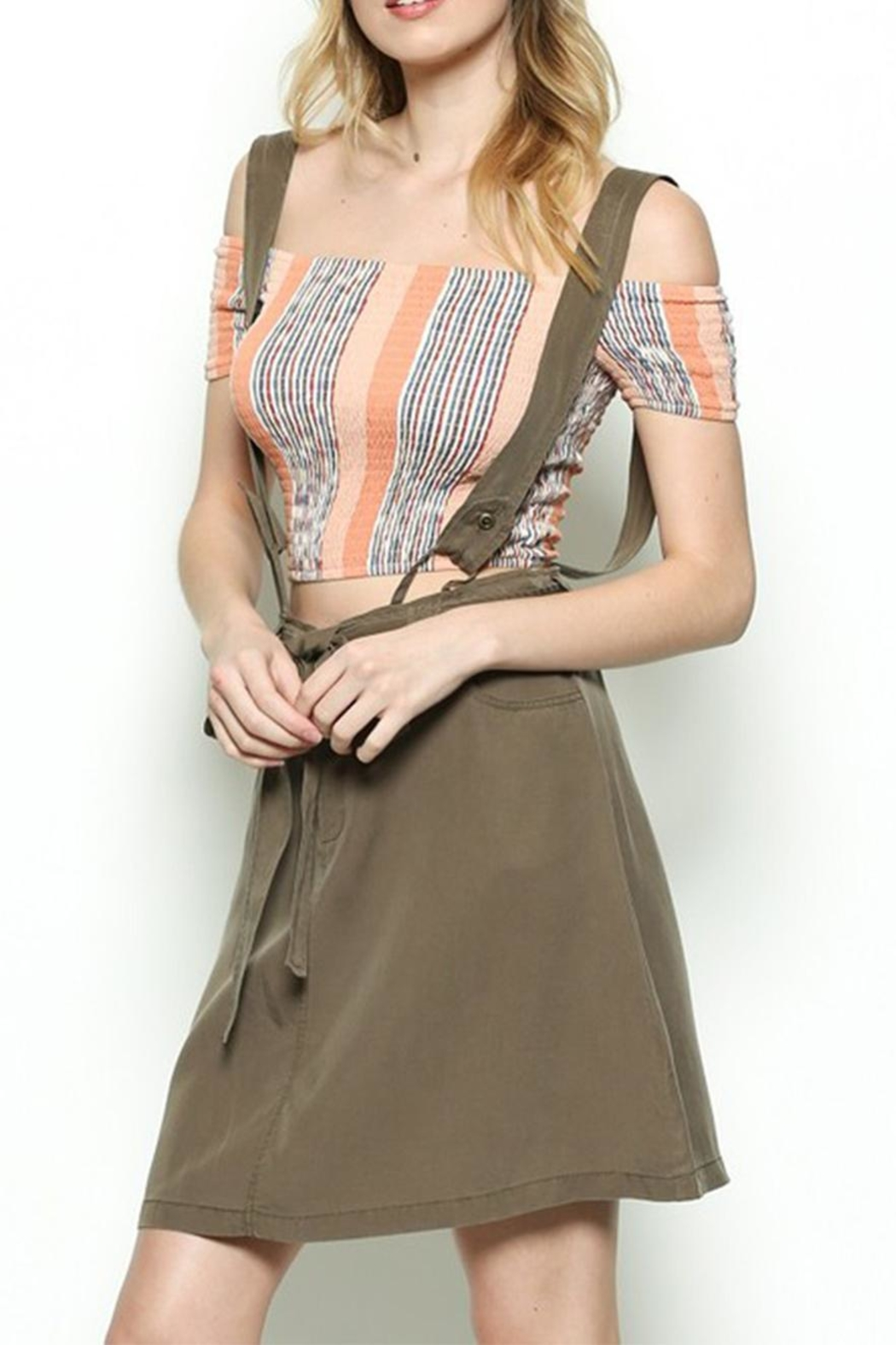 Illa Illa Overall Skirt - Side Cropped Image