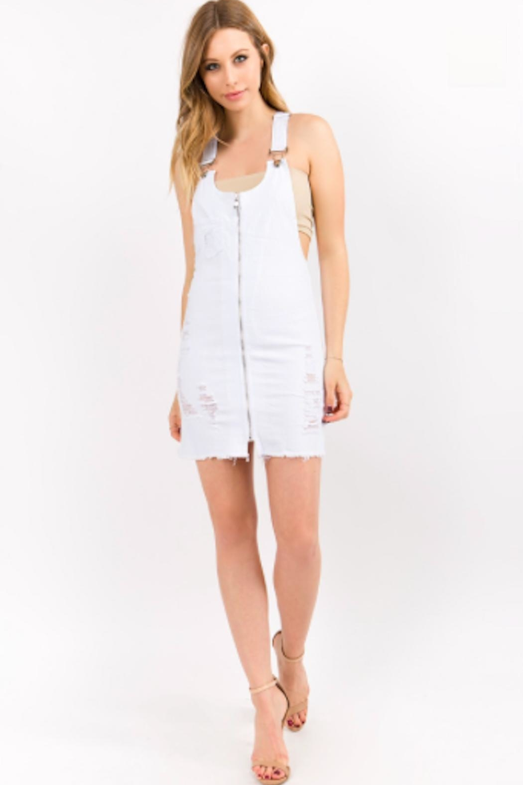 TIMELESS Overall Zip Dress - Front Full Image
