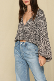 By Together  Overlapped Crinkled Top - Front cropped
