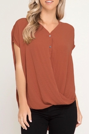 LuLu's Boutique Overlapping Hem Blouse - Product Mini Image