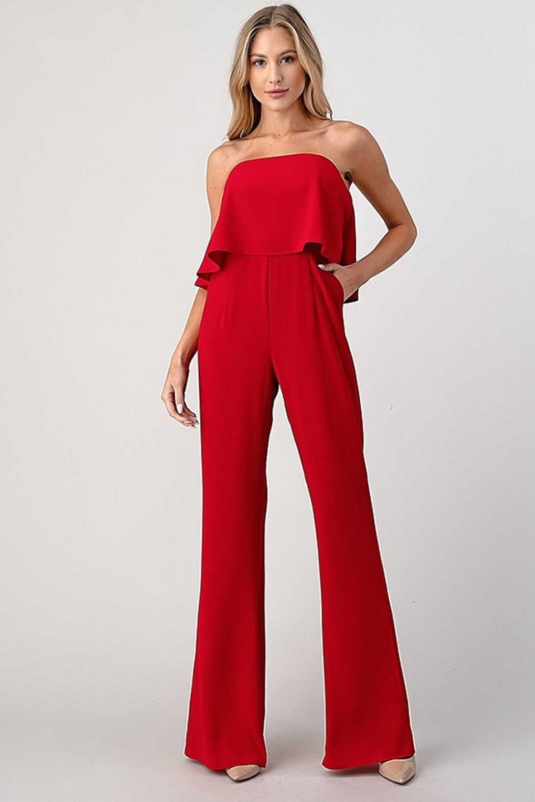 Minuet Overlay Top Jumpsuit - Front Cropped Image