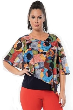 Bali overlay top Picasso print - Product List Image