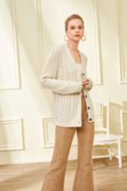 Julie Brown NYC Oversize Cable Cardigan - Product Mini Image