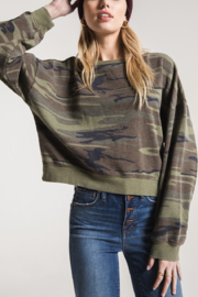 z supply Oversize Camo Pullover - Product Mini Image