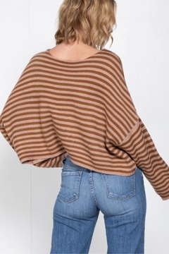 Cashmere N Tee Oversize-Cropped Striped Sweater - Alternate List Image