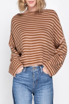 Cashmere N Tee Oversize-Cropped Striped Sweater - Product List Image