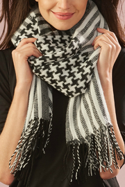 Giftcraft Inc.  Oversize Houndstooth Scarf - Product Mini Image