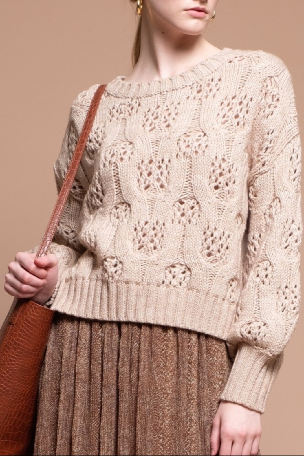 Moon River Oversize Sweater - Front Cropped Image