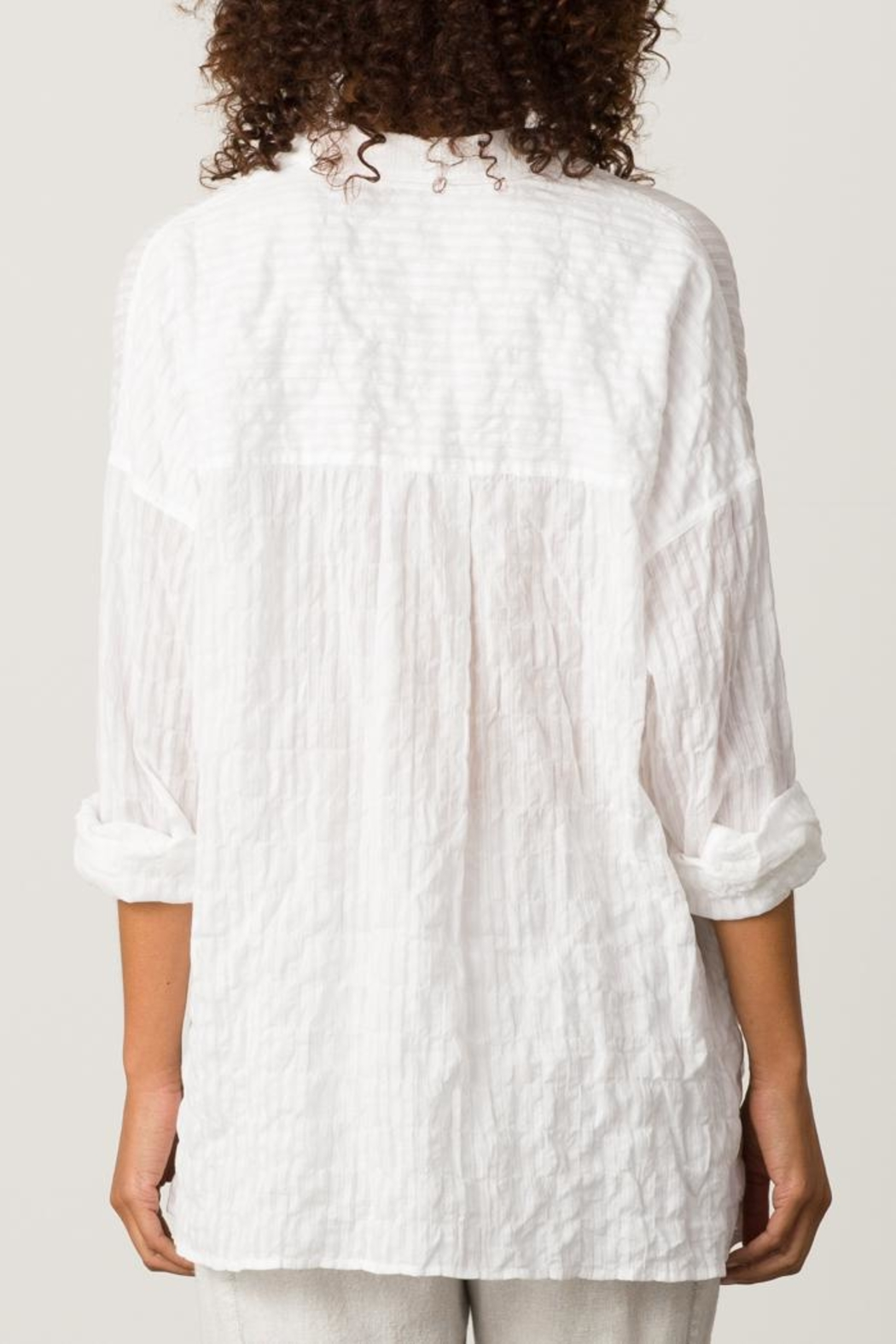 Margaret O'Leary Oversize Western Shirt - Side Cropped Image