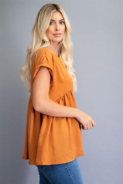 Glam Oversized Babydoll Top - Front cropped