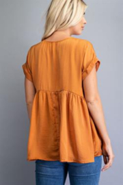 Glam Oversized Babydoll Top - Side cropped