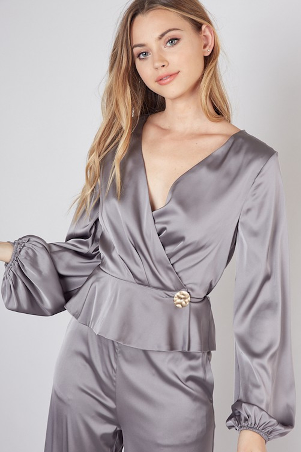 Do & Be Oversized Button Closure Blouse - Main Image