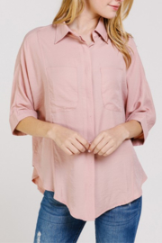 Caramela Oversized Button Down Blouse - Product Mini Image