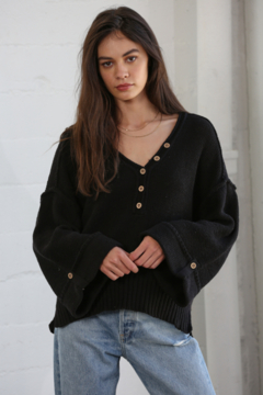 By Together Oversized Button Down Sweater - Product List Image