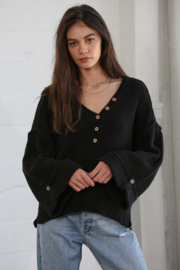 By Together Oversized Button Down Sweater - Product Mini Image
