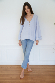 By Together Oversized Button Down Sweater - Front cropped
