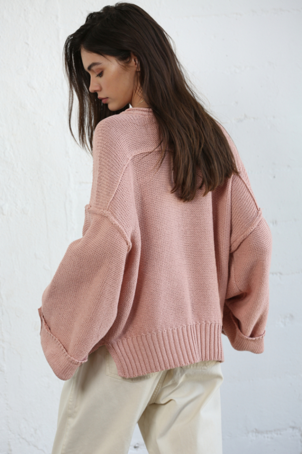 By Together Oversized Button Down Sweater - Front Full Image