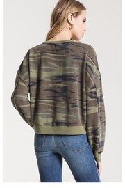 z supply Oversized Camo Fleece - Front full body