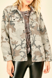 Vintage Havana  Oversized camo fleece jacket - Product Mini Image