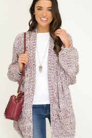 She + Sky Oversized Cardigan - Product Mini Image