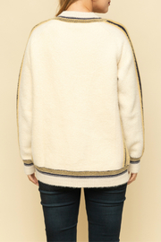 Mystree Oversized cardigan with colorful stripe - Side cropped