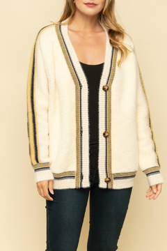 Mystree Oversized cardigan with colorful stripe - Product List Image