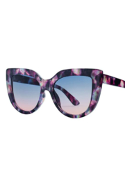 San Diego Hat Company OVERSIZED CAT EYE TORTOISE SUNGLASSES - Product Mini Image