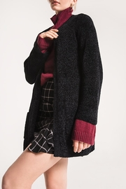 rag poets Oversized Chenille Cardigan - Side cropped