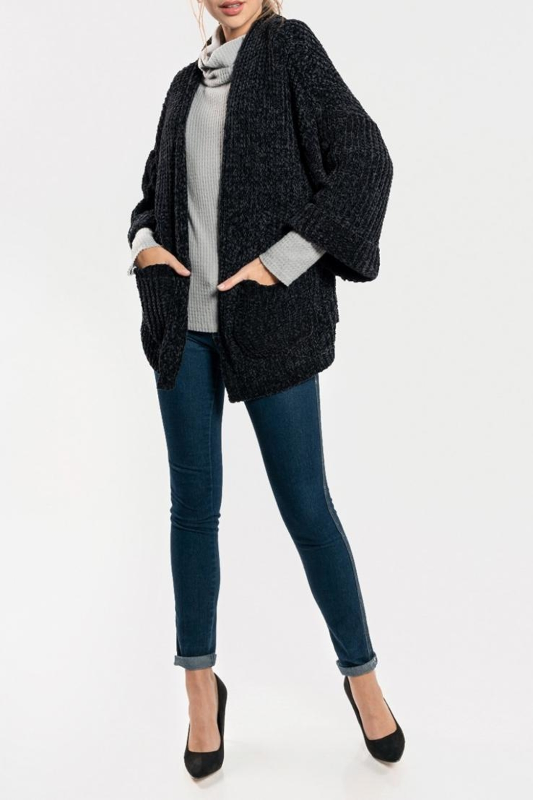 609d359a36 Everly Oversized-Chenille Cardigan