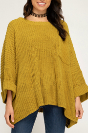 She + Sky OVERSIZED CHENILLE KNIT SWEATER - Product Mini Image