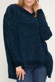 She + Sky Oversized Chenille Sweater - Product Mini Image