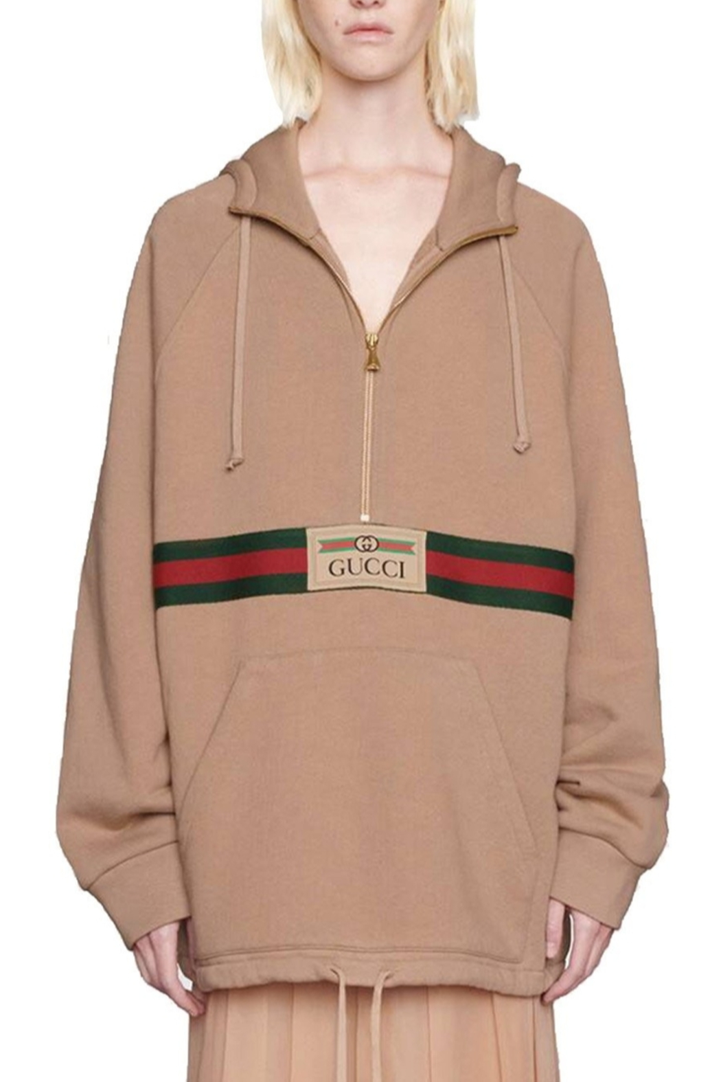 Gucci Oversized Cotton-Jersey Hoodie - Front Cropped Image