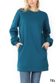 Lyn -Maree's Oversized Cozy Crew Neck - Front cropped