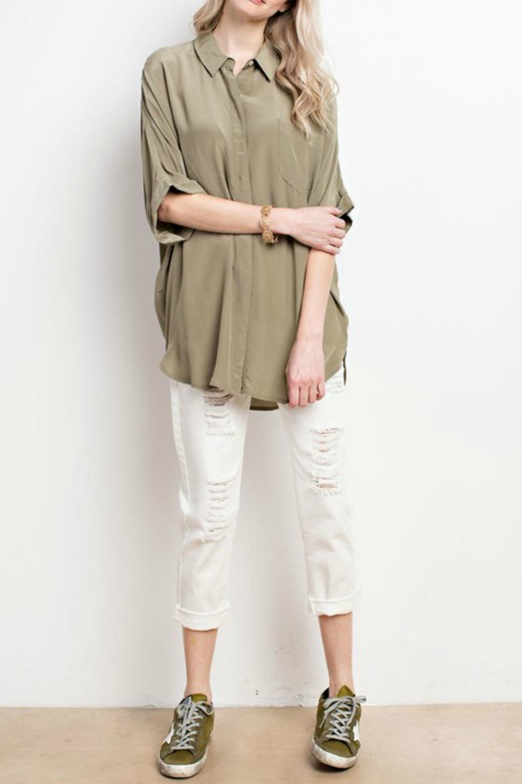 Mittoshop Oversized Crepe To - Side Cropped Image
