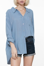 En Creme Oversized Denim Blouse - Product Mini Image